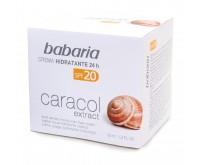 BABARIA SNAIL - CREMA HIDRATANTA CU EXTRACT DE MELC 24 H SPF 20 - protectie UVA / UVB